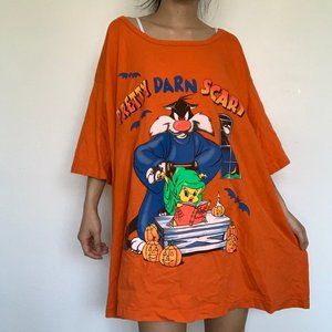 Vintage Sylvester + Tweety Bird 'Pretty Darn Scary